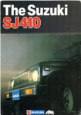 Suzuki SJ 410 1983 UK Market dépliant vente Brochure VW Toit V Softop Q Van
