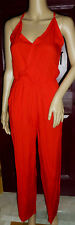 CBR Chic Boutique Rose Wide Leg Jumpsuit Size S Red  WOW!
