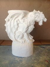 Panther Gargoyle Candleholder Ceramic Bisque Ready To Paint & Ship Renaissance
