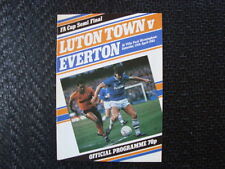 Everton FA Cup Home Teams C-E Final Football Programmes