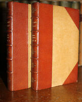 1879 BLACK BUT COMELY Whyte Melville RIVIERE Leather Binding First Ed Vol 1 & 3