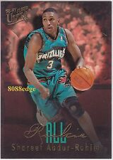 1996-97 ULTRA ALL-ROOKIES EMBOSSED: SHAREEF ABDUR-RAHIM #1 GRIZZLIES RC ALL-STAR