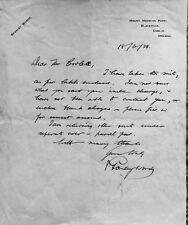 TT especial: Stanley Woods, una carta original firmada a mano por la leyenda.