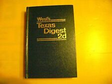 West's Texas Digest 2d Waters Wills Witnesses 5 Books