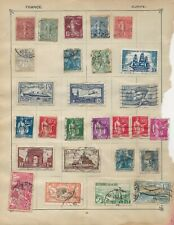 France Stamps on 2 Sides of an Old Stamp Album Page
