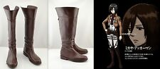 Cosplay Shingeki no Kyojin Attack on Titan Mikasa Ackerman Schuhe Stiefel Boots