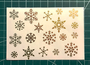 CHRISTMAS XMAS SNOWFLAKES STICKERS STICKY DECALS DECORATION