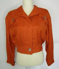 Vintage Ernst Strauss Orange Jacket/Blazer Size 6