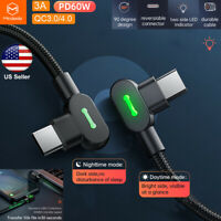 Mcdodo 60W LED Elbow PD Type-C USB C to USB C Fast Charging Cable Charger Cord