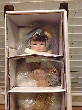 "NOVEMBER TOPAZ Diamond Doll Designs Beverly Stoehr 14"" Porcelain Birthstone LE"