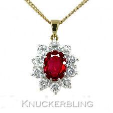 18 Carat Yellow Gold Ruby Fine Pendants