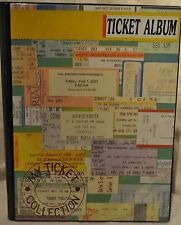 TICKET STUB ORGANIZER SCRAPBOOK CONCERT TICKET ALBUM TICKET STUB DIARY