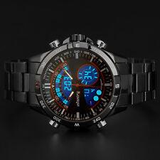 INFANTRY Mens Digital Analog Wrist Watch Chronograph Sport Army Stainless Steel