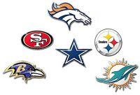 Die-Cut Metal Auto Emblem COLOR NFL Car Decal Sticker - Pick Team