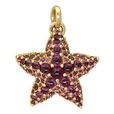New Pomellato Sirene 18k Gold Rhodolite Garnet Starfish Pendant $8880