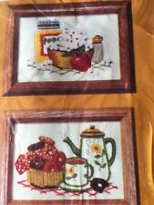 1981 Creative Circle Popcorn & Donuts Embroidery Kit 210 NEW Vintage Retro Cute