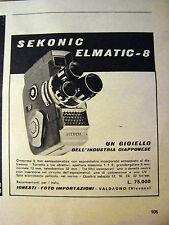 PUBBLICITA' ADVERTISING WERBUNG 1961 SEKONIC ELMATIC-8 (E558)