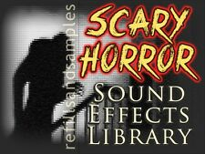 Scary Horror Sound Effects Library Wav Format Royalty Free Sample Audio Video CD