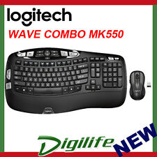 Logitech MK550 Keyboard and Laser Mouse Wireless Wave Combo Unifying receiver