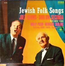 JEWISH FOLK SONGS - JOEY ADAMS / SHOLOM SECUNDA - ROULETTE - STEREO LP