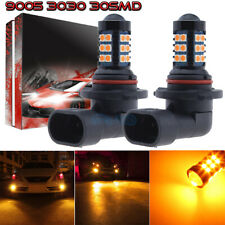 2Pcs 9005 9145 H10 3030 30Smd Led Fog Lights Conversion Kit 3000K Yellow Amber