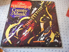 The History Of Country Music Volume 3 Double Vinyl LP Hank Snow Patsy Cline