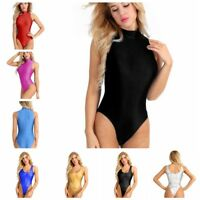 Women's Bodysuit Stretch Leotard Body Tops One-piece Swimsuit Swimwear Bathing