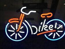 "13"" Bike Shop Open Neon Sign Light Beer Bar Pub Lamp Glass Artwork"