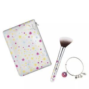 $58 IT Cosmetics Alex & Ani Your Cosmic Connection Brush Bracelet Makeup Bag Set