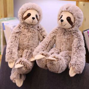 50/70CM PLUSH CUDDLY SLOTH SOFT TOY TEDDY FURRY ANIMAL MONKEY DOLL KID GIFT