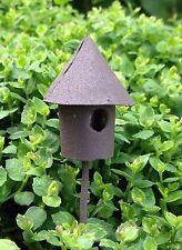Miniature FAIRY GARDEN Accessories ~ TINY Micro Mini Rustic Birdhouse Pick NEW