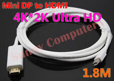 New MDP Thunderbolt to HDMI M/M Adapter Cable Cord 4K*2K Ultra HD HDTV 1.8M AU