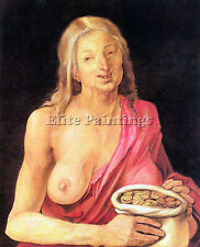 OLD WOMAN WITH A PURSE BY DURER ARTIST PAINTING REPRODUCTION HANDMADE OIL CANVAS