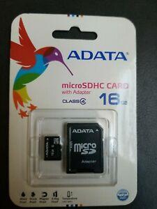 16Gb MicroSDHC Class 4 Flash Memory Card With Adapter