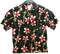 Banana Cabana Men's Size Large Silk Hawaiian Shirt Floral Print