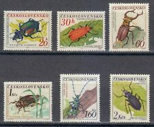 Czechoslovakia 1962 MNH Mi 1371-1376 Sc 1144-1149 Beetles LUXUS **