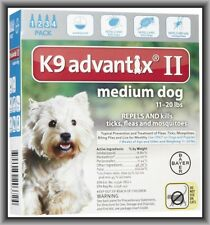 Bayer K9 Advantix II Flea & Tick Treatment for Medium Dogs 11-20 lbs 4 Months