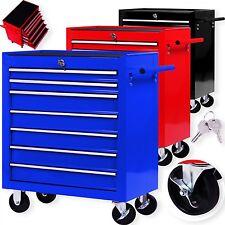 Masko® Werkstattwagen Rollwagen Werkzeugwagen Werkzeugkiste 7 Fächer Toolbox NEU