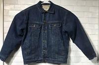 WRANGLER  Vintage Jean Jacket Sherpa Fleece Lined Men's Size Medium
