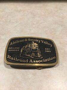 Abilene and Smoky Valley Railroad Association Belt Buckle metal Abilene Kansas