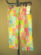 NWT ($64) Lilly Pulitzer Multi Rainbow Patch Pants Size 12