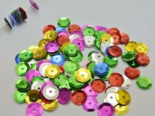 2000 Mixed Color 10mm CUP round loose sequins Paillettes sewing Wedding craft