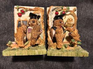 "Vintage Book End Kids Tom Owls School Days 5""High Book Shelf Ornament"