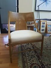 Designer Barbara Barry classic bamboo curved dining armchairs from Mcguire