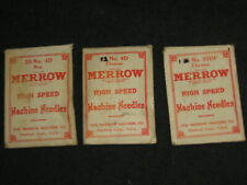 Merrow Curved Overlock Pearlstitch Machine Needles 4D Mrxr9, 60M, Sy6200 151x1
