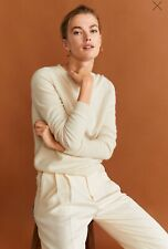 "Woman pure cashmere Sweater , jumper size S UK 8 new,mango RRP 100£,."""