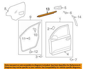 Scion TOYOTA OEM xD-Door Window Sweep-Belt Molding Weatherstrip Left 6821052160