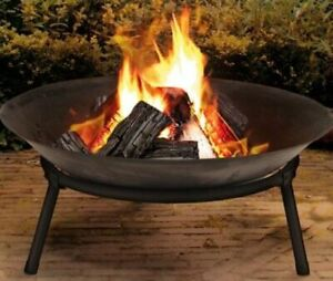 Cast Iron Outdoor Fire Pit Bowl Round Patio Fire EXTRA LARGE 60cm Fire Pit