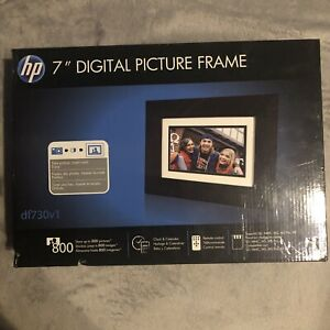 """HP 7"""" Inch Digital Picture Photo Frame DF730V1 NEW In Box Never Used"""
