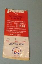 1976 Philadelphia Phillies vs. Pittsburgh Pirates Baseball Game Ticket Stub 7/24